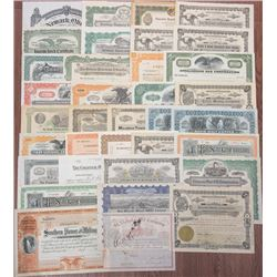 Mining, Oil, Gas and Communication Stock and Bonds Assortment, ca.1900-1960's