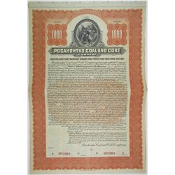 Pocahontas Coal and Coke Co., 1901 Specimen Bond