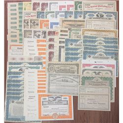 Manufacturing & Miscellaneous Stock and Bond Certificates, ca.1870-1940's.