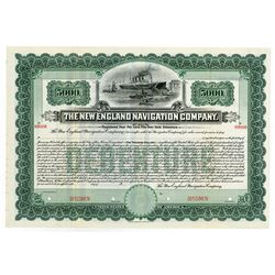 New England Navigation Co., 1905 Specimen Bond.