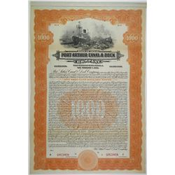 Port Arthur Canal & Dock Co. 1923 Specimen Bond