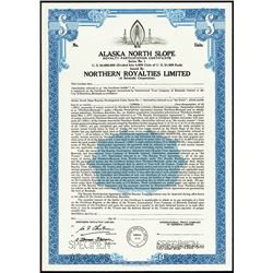 Alaska North Slope 1975 Royalty Participation Certificate, Specimen Bond.