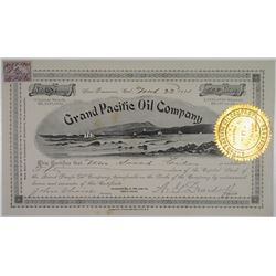 Grand Pacific Oil Co. 1901 I/U Stock Certificate