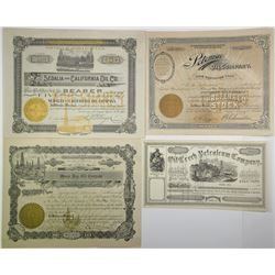 California & Arizona Oil Co. 1860-1908 Stock Certificate Quartet