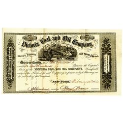Victoria Coal & Oil Co. 1860 I/U Stock Certificate.
