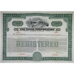 Texas Corporation (TEXACO), 1939 Specimen Bond