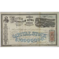 United Petroleum Farms Association, 1865 Stock Certificate