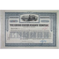 Grand Canyon Railway Co. 1924 I/C Stock Certificate