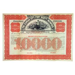 Kansas City, Fort Scott and Memphis Railway Co., ca.1900-1910 Specimen Bond