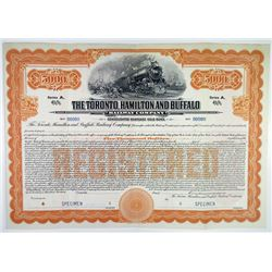 Toronto, Hamilton and Buffalo Railway Co. 1916 Specimen Bond Rarity