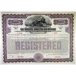 Toronto, Hamilton and Buffalo Railway Co. 1916 Specimen Bond