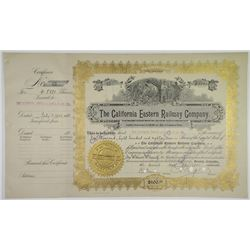 California Eastern Railway Co. 1902 I/C Stock Certificate