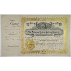 California Eastern Railway Co. 1902 I/C Stock Certificate