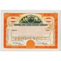 Florida East Coast Railway Co. 1983. Composite Model of Stock Certificate.