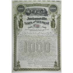 Jacksonville, Tampa & Key West Railway Co. 1890 I/U Bond