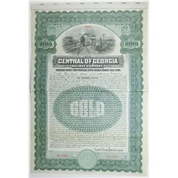 Central of Georgia Railway Co., 1905 Specimen Bond