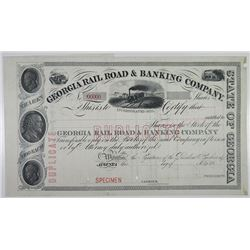 Georgia Rail Road & Banking Co., 1910-1930 Specimen Stock Certificate