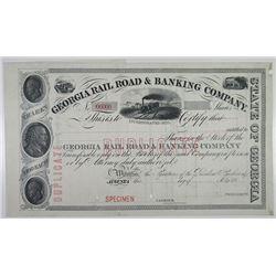 Georgia Rail Road & Banking Co., 1910-1930 Specimen Stock Certificate