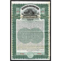 Georgia Railway and Electric Co., 1909 Specimen Bond