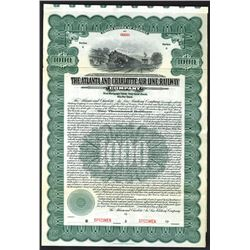 Atlanta and Charlotte Air Line Railway Co., 1914 Specimen Bond