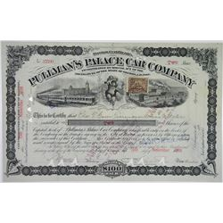 Pullman's Palace Car Co., 1898 I/C Stock Certificate