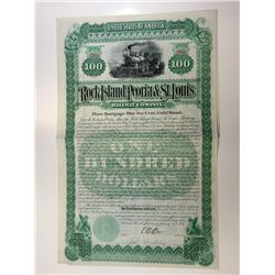 Rock Island, Peoria & St. Louis Railway Co., 1891 Bond