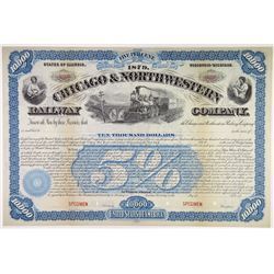 Chicago & Northwestern Railway Co., 1879 Specimen Bond