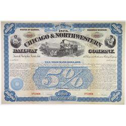 Chicago & Northwestern Railway Co., 1879 Specimen Bond