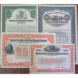 Toledo, St. Louis & Western Railroad Co. Stock and Bond Quartet
