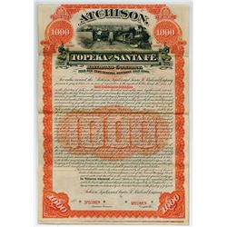 Atchison, Topeka and Santa Fe Railroad Co. 1889 $100 Specimen Bond
