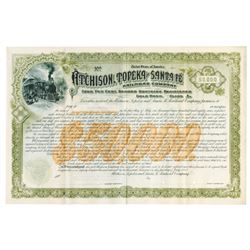 Atchison, Topeka and Santa Fe Railroad Co., 1892 Specimen Bond