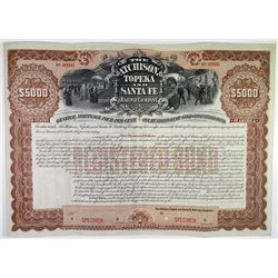 Atchison, Topeka and Santa Fe Railway Co. 1895 Specimen Bond