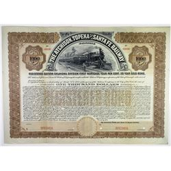 Atchison, Topeka and Santa Fe Railway Co. 1904 Specimen Bond Rarity