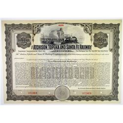 Atchison, Topeka and Santa Fe Railway Co. 1908 Specimen Bond