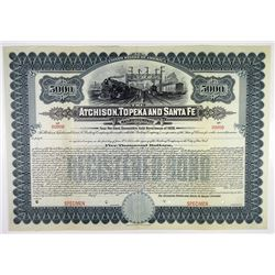 Atchison, Topeka and Santa Fe Railway Co. 1909 Specimen Bond