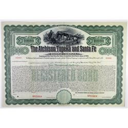Atchison, Topeka and Santa Fe Railway Co. 1910 Specimen Bond