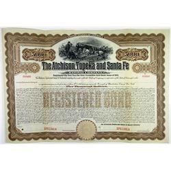Atchison, Topeka & Santa Fe Railway Co., 1910 Specimen Bond Pair