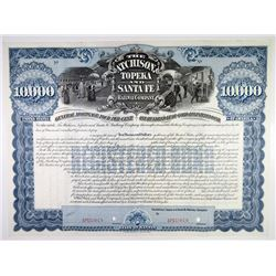 Atchison, Topeka and Santa Fe Railway Co. 1895 (Reissued in 1976) Specimen Bond