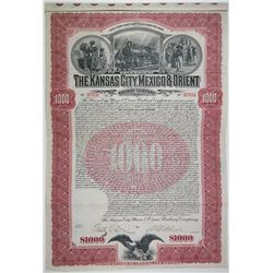 Kansas City, Mexico & Orient Railway Co. 1901 I/U Bond