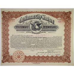Kansas City-Western Railway Co., 1907 Stock Certificate