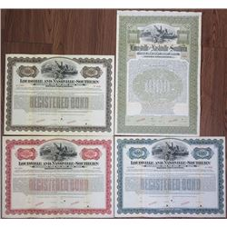 Louisville and Nashville-Southern Railroad Co. 1902 Bond Quartet