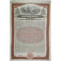 Southern Pacific Co. 1910 Specimen Bond