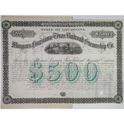 Morgan's Louisiana & Texas Railroad & Steamship Co. 1879 Specimen Bond Rarity