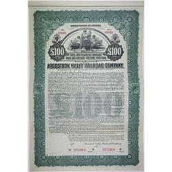 Aroostook Valley Railroad Co., 1911 Specimen Bond