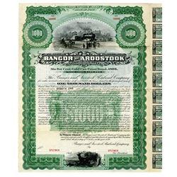 Bangor and Aroostook Railroad Co. 1896 Specimen Bond