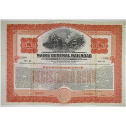 Maine Central Railroad Co., 1915 Specimen Bond