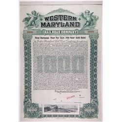Western Maryland Railroad Co., 1902 Specimen Bond