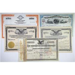 Mid-Atlantic Railroad Bond and Stock Certificate Quintet, 1897-1980