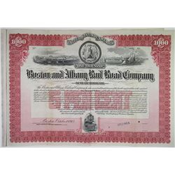 Boston and Albany Rail Road Co., 1913 Specimen Bond