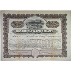 Boston Elevated Railway Co., 1923 Specimen Bond